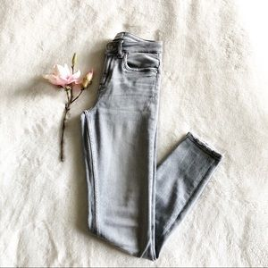 Zara grey high-waist skinny jeans